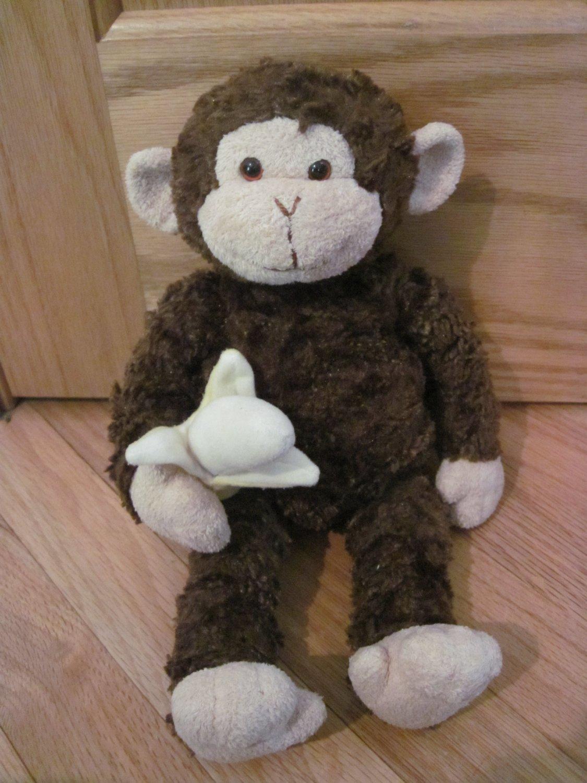 Gund Plush Brown Monkey With Banana Mambo 31040