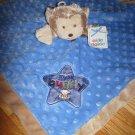 Okie Dokie My Lil' Buddy Blue Minky Dot Brown Monkey Security Blanket Lovey