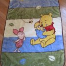 Disney Baby Winnie the Pooh & Piglet Blue Green Cream Brown Luxury Plush Baby Blanket