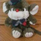 Vintage Target Plush Christmas Squeakers Mouse Toy Squeaky Ear Plaid Hat Bow Tie Dayton Hudson