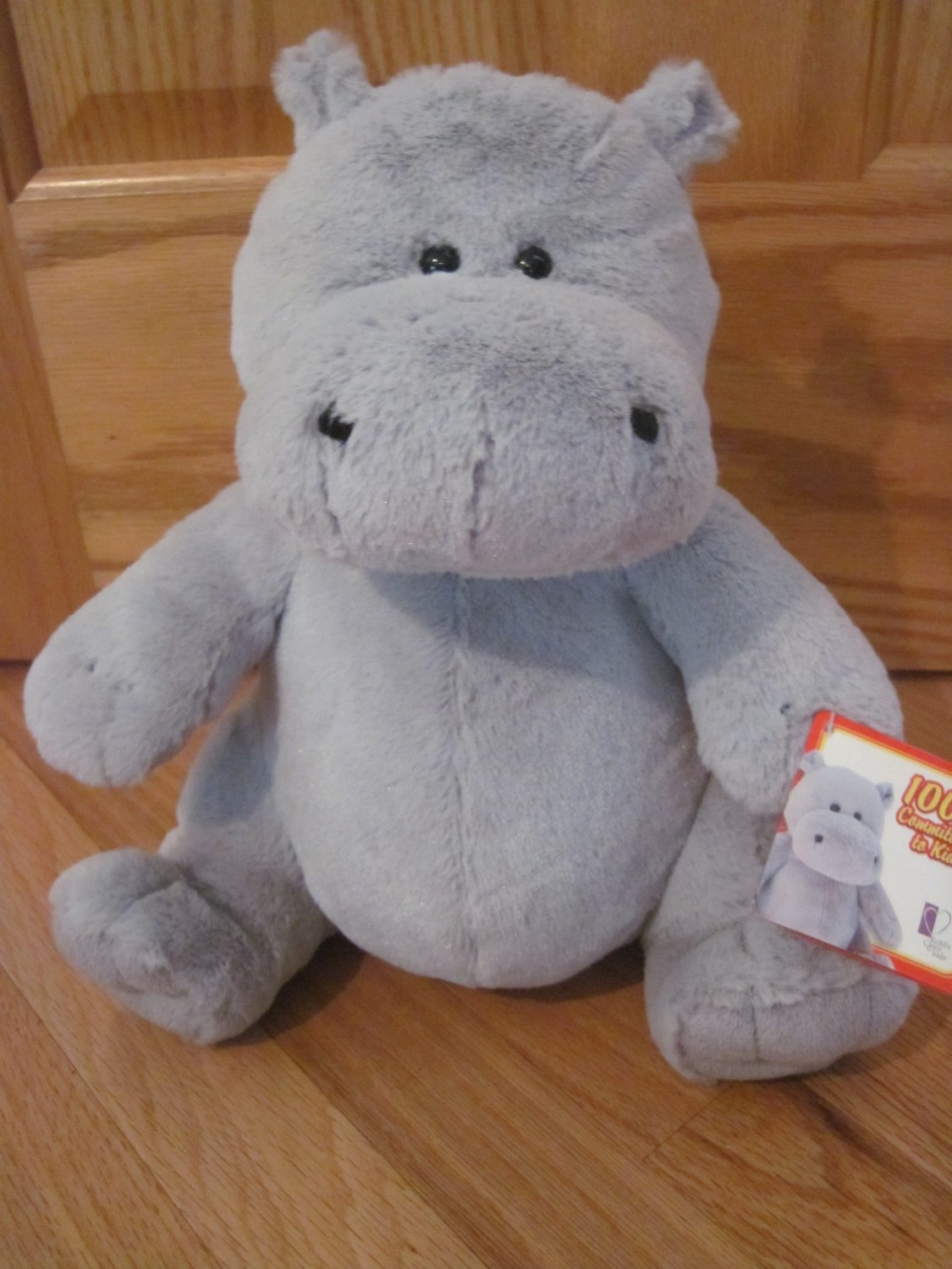 Kohls Cares For Kids Gray Plush Hippo Curious George
