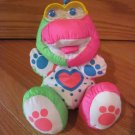 Fisher Price 1991 Colorful Puffalump Dinosaur Rattle Eyes Teether 1383 1384