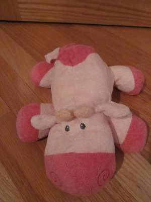 Ty Pluffies Mooer The Pink Cow Stuffed Plush Animal Tylux 2008