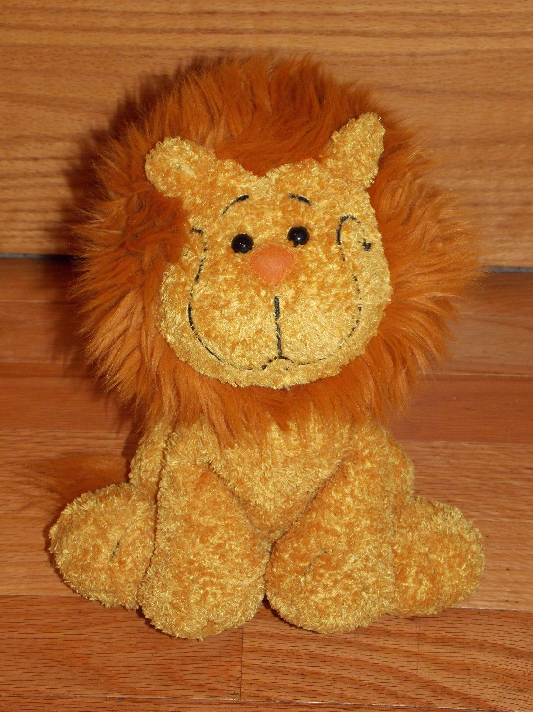 Cuddle Factory Golden Orange Plush Sitting Lion Black