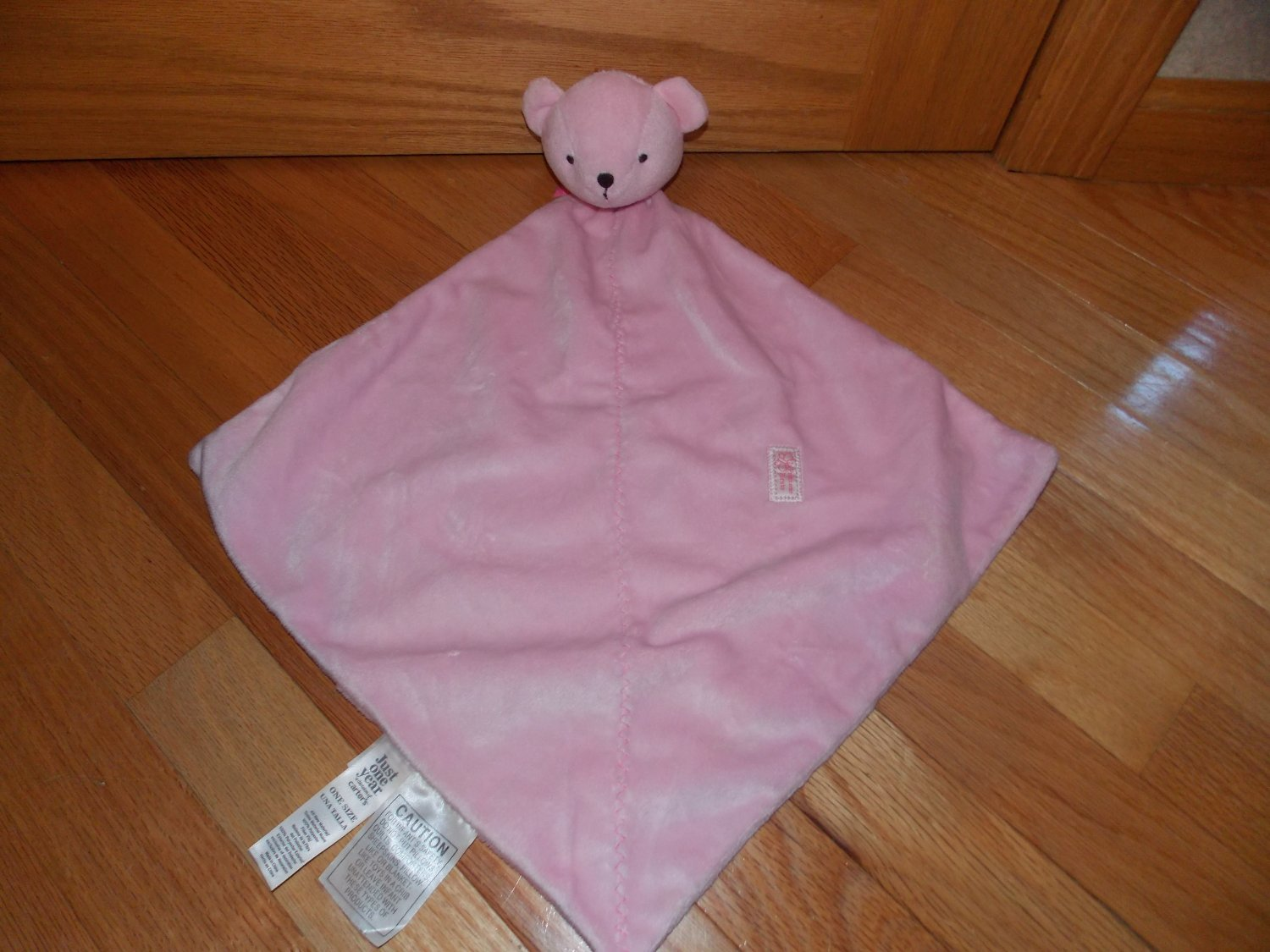 Carters Precious Firsts Pink Plush Teddy Bear Security