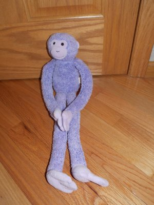Toys R Us Animal Alley Purple Lavender Shaggy Chenille Long Arm Leg