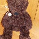 Hallmark Dark Chocolate Brown Teddy Bear Tan Polka Dot Ribbon Plush Toy