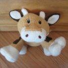 Animal Adventure Plush Brown White Tan Cow Squeaker Toy