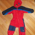 Columbia Sportswear Company Tectonite Red Blue Black One Piece Snowsuit  Ski 3T Toddler Boys