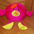 Brentwood Originals Moshi Hot Pink Flamingo Bird Long Legs Orange Yarn Hair Microbead Pillow Toy