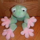 FAO Baby Schwarz Plush Green Pink Frog Toad Toy 22 Inch