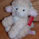 Russ Berry Cream Plush Sheep Named Lola Green Gingham Plaid Bows 31951