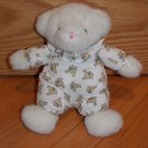 Carters Classics Plush White Bear Rattle Ruffle Teddy Pajamas Style 1350