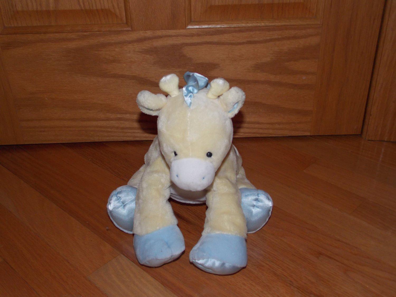 Baby Gund Plush Yellow Blue Satin Diamonds Giraffe Tender Beginnings 58991