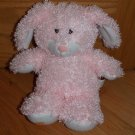 Peek A Boo Toys Plush Pink Curly Bunny Rabbit Carrot Foot