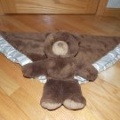 My Banky by Lori Turner Brown Plush Teddy Bear Security Blanket Lovey Cream Trim Chancy Large Size