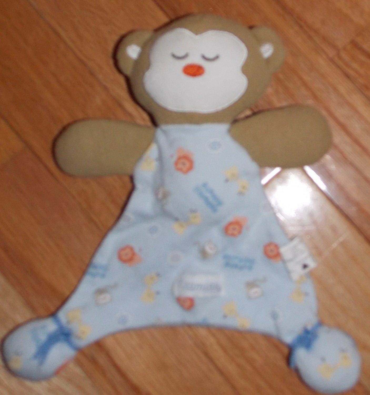 Vitamins Sleeping Friends Animal Print Monkey Teddy Bear
