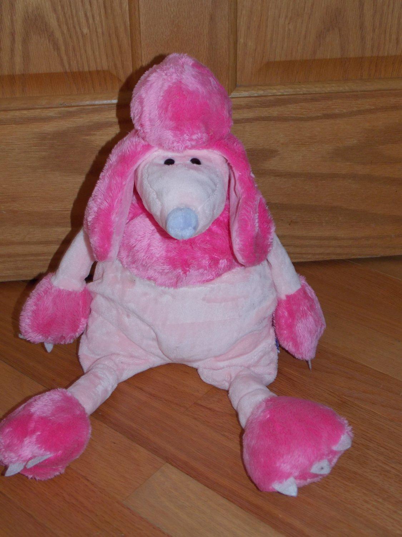 Manhattan Toys 2004 Plush 20 Inch Pink Poodle Purple Nose