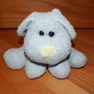 Best Made Toys Blue Plush Curly Puppy Dog Green Nose Black Eyes