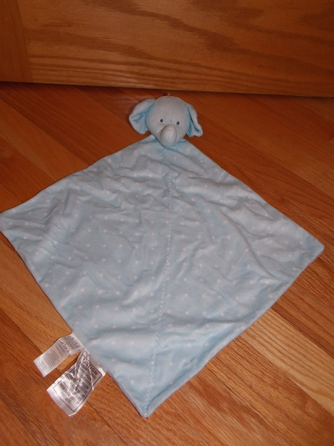 Carters Child Of Mine Blue White Stars Elephant Security