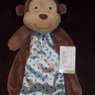 Carters Just One You Plush Brown Monkey Blue Dot Security Blanket Lovey Y25931H