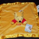 Disney Winnie the Pooh Yellow Gold Red Lovey Security Blanket NWT