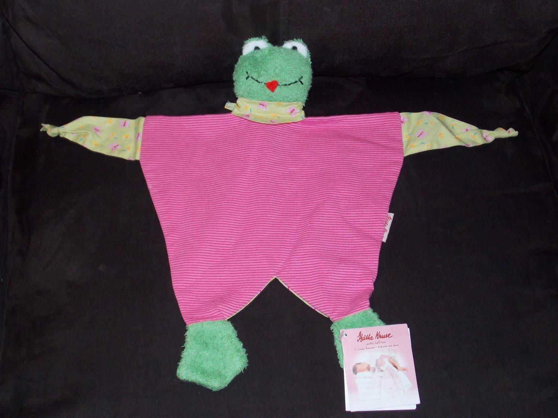 Kathe Kathy Kruse German Handcrafted Frog Security Blanket Lovey