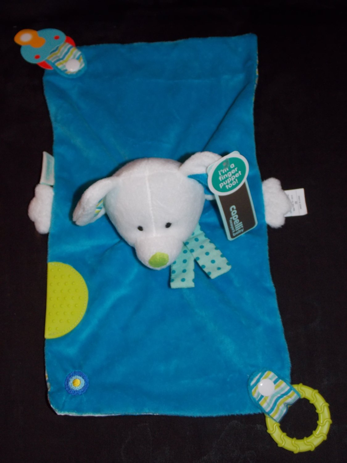 Capelli Baby Blue Mouse Security Blanket Lovey Puppet