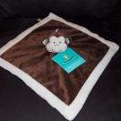 Tiddliwinks Brown & Cream Monkey Velour Baby Security Blanket Lovey Swirl Ears