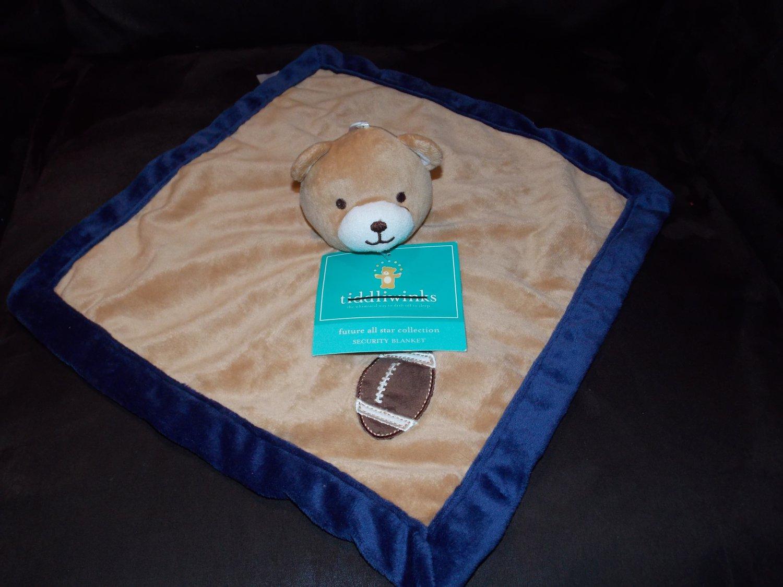 Tiddliwinks Bear Brown Blue All Star Football Baby Lovey