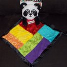 Lamaze Play and Grow Panda Security Blanket Lovey Rattle Bright Colors