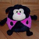 Jay At Play Mushable Pot Belly Plush Pink Black Microbead Ladybug