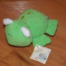 Cost Plus World Market Green Plush Frog with Ribbit Croak Sounds