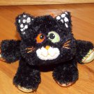 Mary Meyer Plush Black Kitty Cat Halloween Pumpkin Stripe Feet Tail 6370