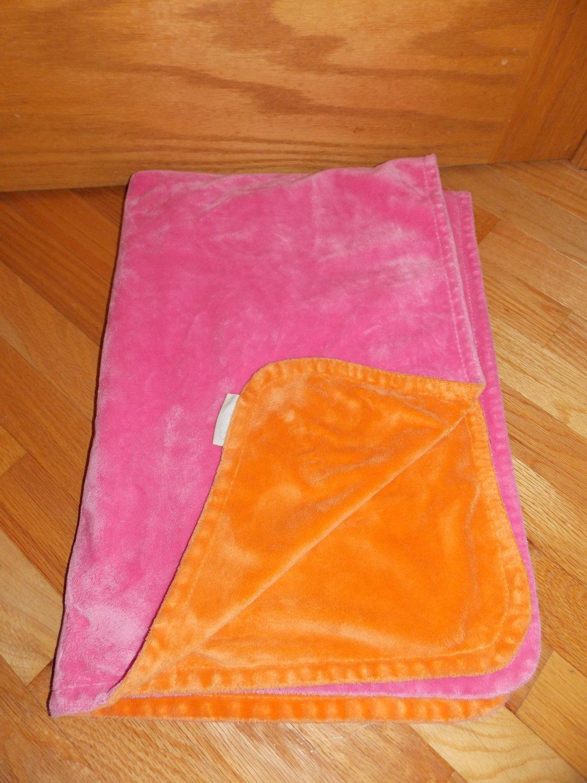 Pottery Barn Kids Chamois Stroller Pink Orange Baby Blanket