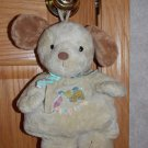 Carters Baby Plush Tan Puppy Love Dog Musical Pull Toy Brahms Lullaby 96152