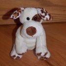 World Market Cost Plush Plush Cream Brown Puppy Dog Barks Leopard Print Spots
