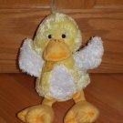 Russ Berrie Plush Yellow White Orange Sunflower Duck Polka Dot Ribbon Bow 27889
