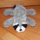 Gund Gray & Black Laying Plush Raccoon Named Romer Striped Tail 12000