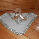 Bearfoot Dreams Brown Teddy Bear Gray Security Blanket Lovey Plush Toy # 505