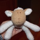 Blankets & Beyond Cream Plush Curly Lamb Sheep Brown Face Toy