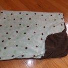 Koala Baby Brown Mint Green Polka Dot Blanket Minky Sherpa 3748107K7