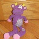 """Aurora Baby Purple Clarisse Cow Bull Plush Stuffed Animal Toy Mischief Lolliez 14"""""""