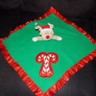 Baby Boom Green Red Reindeer Christmas Security Blanket Lovey Candy Canes