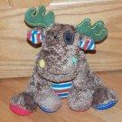 Mary Meyer Plush Mossy Moose Cheery Cheeks Brown Stripes Stuffed Animal