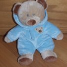 Ty Pluffies Baby Blue Bear Beige Tan Bear Hoodie Outfit 2010