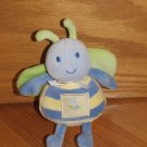 "Carters Starters Plush Bee Lets Be Friends Blue Yellow Butterfly Green 7"" Bell Rattle 34393"