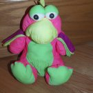 Vintage Ace Novelty Bright Neon Puffalump Colorful Parrot Bird Dinosaur