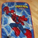 Spiderman & Friends Luxe Blue Red Super Hero Thick Pile Baby Blanket