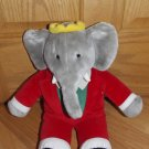 Gund Vintage 1988 Plush Babar Elephant in Red Suit 14 Inch Toy